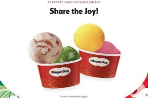 Haagen-Dazs 1 For 1 Double Scoop Ice Cream Promotion at ALL outlets 26 – 28 Jan 2018