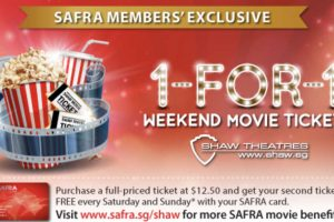 Shaw Theatres 1 For 1 Weekend Movie Tickets Promotion is Back Till 31 Mar 2018