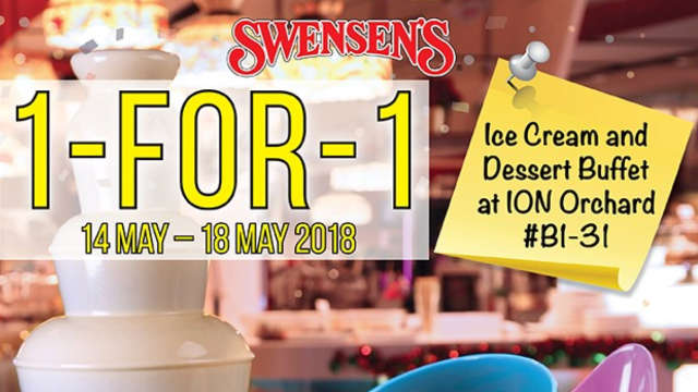 1 For 1 Ice Cream & Desserts Buffet Promotion at Swensen ION Orchard