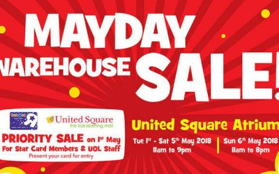 "Up to 60% Off Toys ""R"" Us Warehouse Sale at United Square 2 – 6 May 2018"