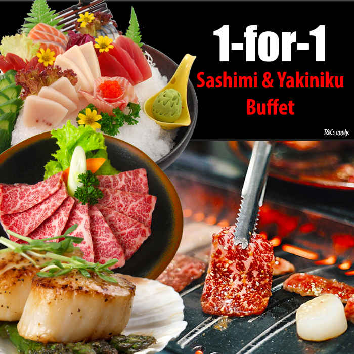 1 For 1 Japanese BBQ Buffet at Tenkaichi