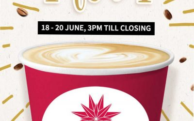 Jewel Coffee 1 For 1 Drinks Daily Promotion 18 – 20 Jun 18