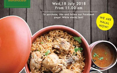 1 For 1 Pavilion Banana Leaf Chicken Dum Biryani Promotion