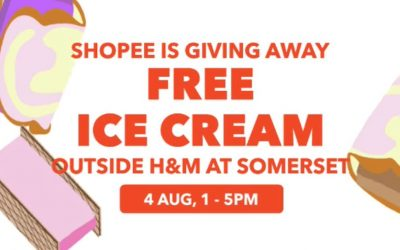 Shopee is Giving Away Free Ice Cream on 4 August 2018