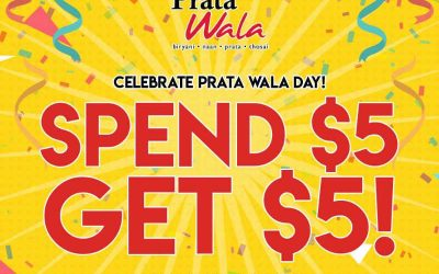 Prata Wala Spend $5 Get $5 Promotion