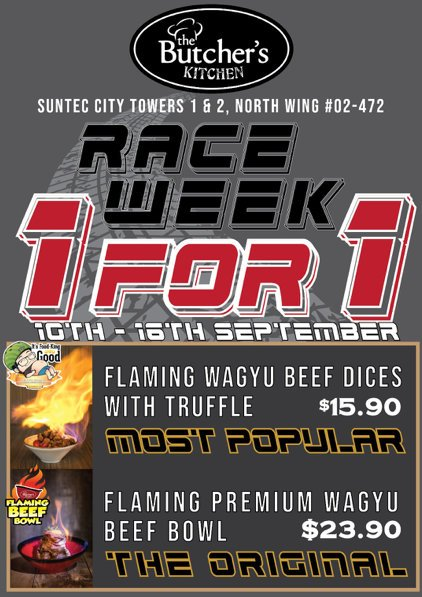 1 For 1 Wagyu Beef Bowl or Beef Dice Promotion at The Butcher's Kitchen
