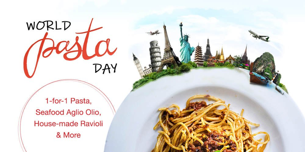 Celebrate World Pasta Day with 1 for 1 Pasta Promotion