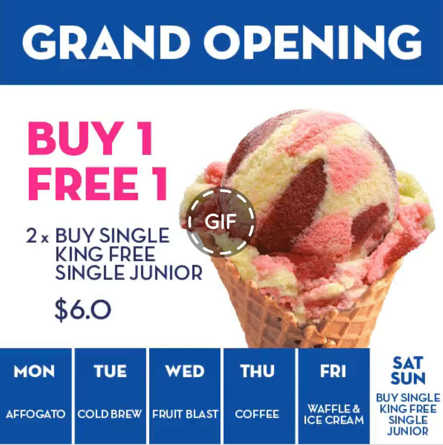 Baskin-Robbins Buy 1 Get 1 Free Daily Promotion at Punggol New Outlet