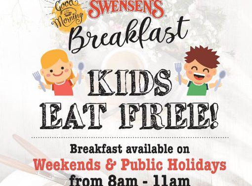 Swensen's Weekend Breakfast Kids Eat Free Promotion (Till Further Notice)