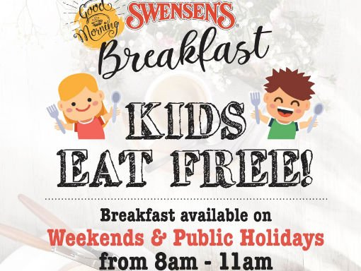 Swensen's Weekend Breakfast Kids Eat Free Promotion (Till Further Notice)