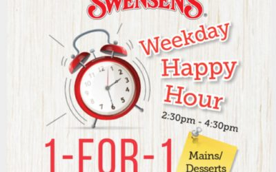 Swensen's 1 For 1 Weekday Happy Hour Mains and Desserts Promotion (Till Further Update)