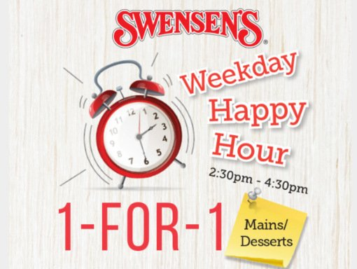 Swensen 1 for 1 weekday promotion
