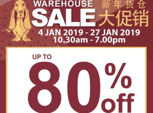 Enjoy up to 80% Off at Hush Puppies Apparel Warehouse Sale 4 – 27 Jan 2019