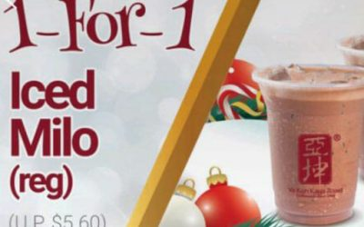 Redeem 1 For 1 Iced Milo Deal From Ya Kun's Mobile App From Now till Jan 13