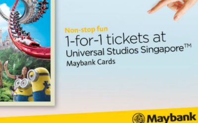 Get 1 For 1 Universal Studios Tickets with Maybank Cards Now till 28 Feb 2019
