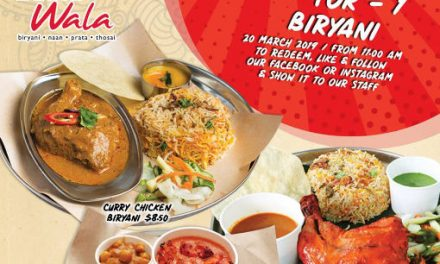 1 For 1 Biryani Promotion at all Prata Wala Outlets 20 March