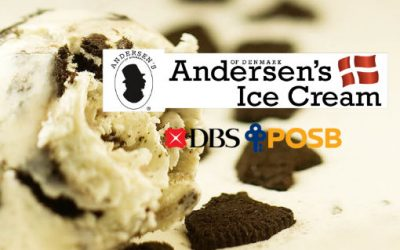 Andersen's 1 For 1 Ice Cream Scoop on Weekdays with DBS/POSB cards Till 31 July 2019