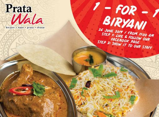 Prata Wala 1 For 1 Curry Chicken Biryani Promotion at All Outlets on 26 June 19