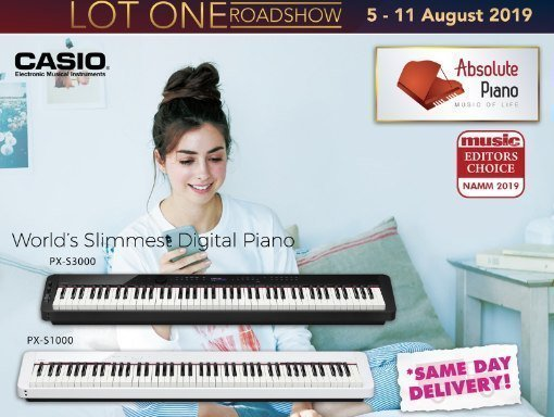 Absolute Piano Casio National Day Promotion Lot 1 Shopper's Mall 5 – 11 August 2019