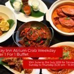 Holiday Inn Atrium Crab Weekday Dinner 1 For 1 Buffet Till 31st July 2019