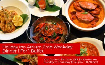 Holiday Inn Atrium Crab Weekday Dinner 1 For 1 Buffet Till 31st July 2019