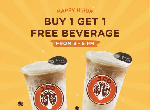 J.Co Donuts & Coffee 1 For 1 Beverage Weekday Happy Hour Promotion 1 – 30 August 2019