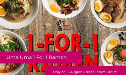 Uma Uma Ramen – 1 For 1 Ramen Promotion at Forum The Shopping Mall 16 August 19