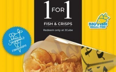 Big Fish Small Fish 1 For 1 Fish & Crisps Promo at JCube Till 30 Sept 2019