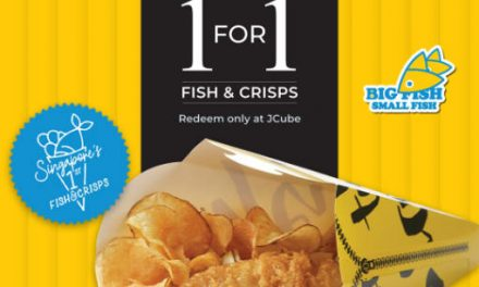 Big Fish Small Fish 1 For 1 Fish & Crisps Promo at JCube Till 30 Sept 2019