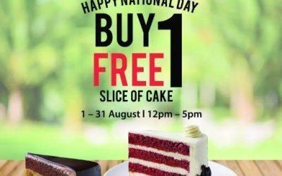 Secret Recipe 1 For 1 Slice of Cake at All Outlets till 31 Aug 19