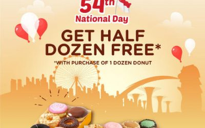 J.co Donuts & Coffee – Free Half Dozen Donuts when You Buy a Dozen 8 – 9 August 2019