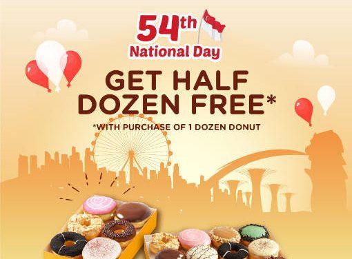J.co Donuts & Coffee – Free Half Dozen Donuts when You Buy a Dozen 8 – 9 August 2019
