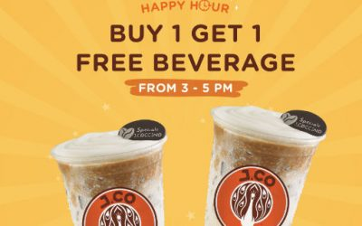 J.CO Donuts & Coffee 1 For 1 Weekday Happy Hour Beverage Promotion