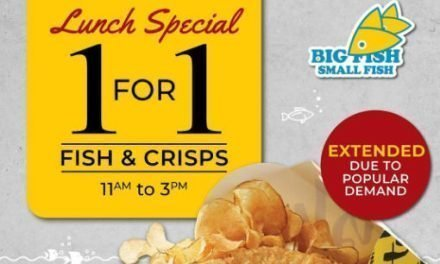 1 For 1 Fish & Crisps Lunch Promotion at Big Fish Small Fish Till 30 September 2019