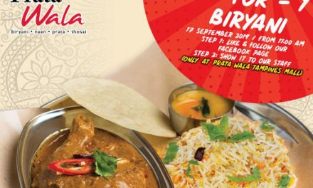 Prata Wala 1-for-1 Curry Chicken Biryani Promotion at Tampines Mall on 17 September 19