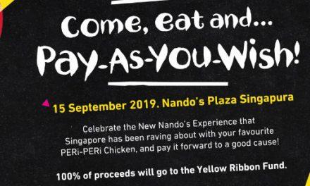 Pay As You Wish For a Good Cause at Nando's Plaza Singapura 15 September 2019