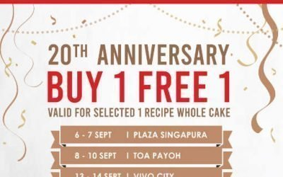 Secret Recipe Buy 1 Get 1 Free For Whole Cakes on Selected Days 6 – 14 Sept 2019