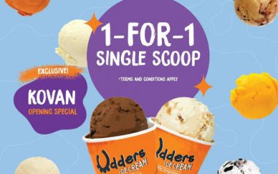 Udders Ice Cream 1 For 1 Single Scoop Promotion Now Till 15 Dec 19