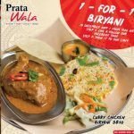 Prata Wala 1 For 1 Curry Chicken Biryani Promotion 10 Dec 19