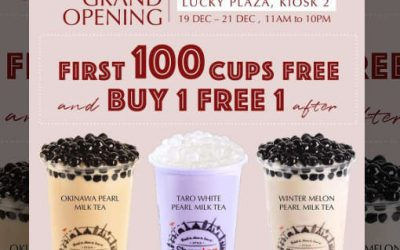 Sharetea 1st 100 Cups Free Giveaway & 1 For 1 Promotion 19 – 21 Dec 2019
