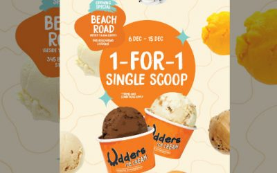 Udder Ice Cream 1 For 1 Single Scoop Promotion at Beach Road Outlet 6 Dec – 15 Dec 2019