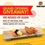 Free Genki Sushi Sushi Giveaway at Suntec City Outlet 12 Jan 20