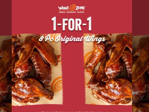 1 FOR 1 wing zone Wings promotion till 31 march 2020