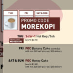 1 FOR 1 Toast box Hot Kopi/Teh promo when you order online on 28 May & 4 Jun 2020
