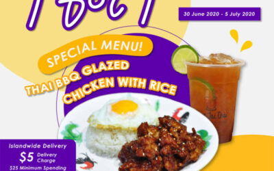 Pope Jai Thai Singapore 1 For 1 Thai BBQ Glazed Chicken with Rice Set Promotion