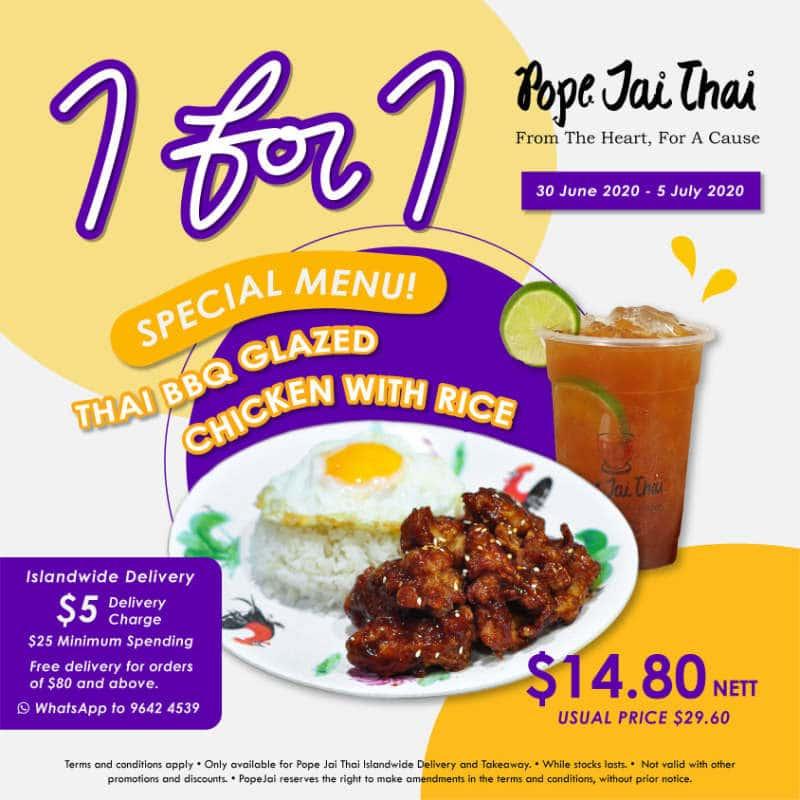1 for 1 pope jai thai