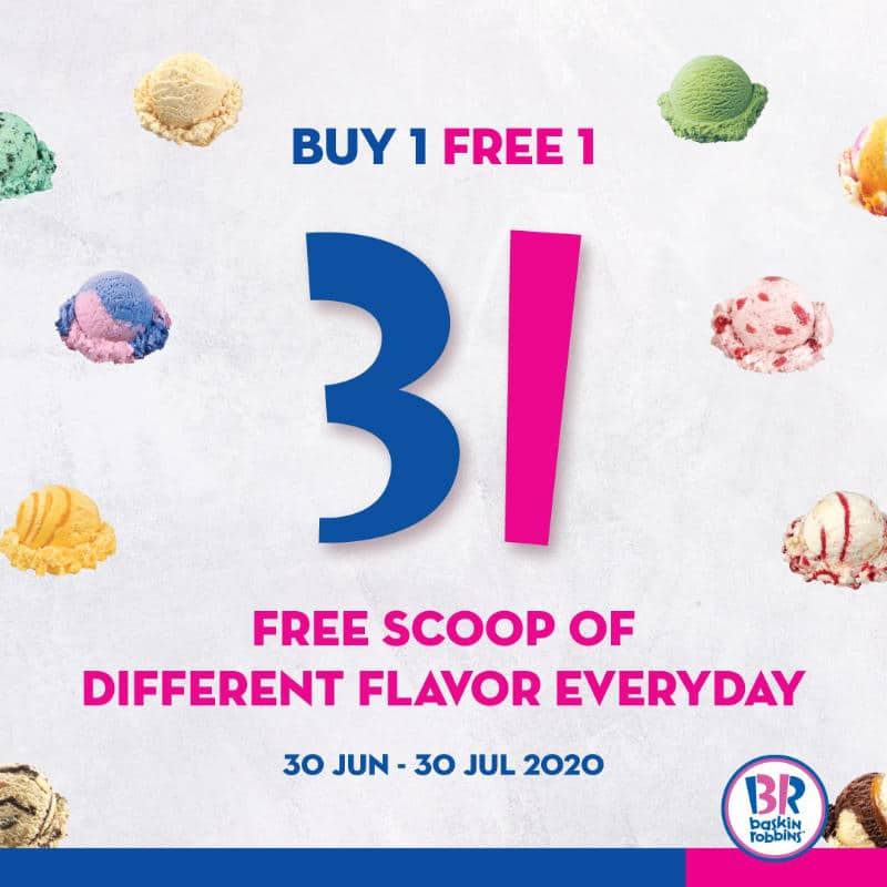 Get one FREE flavor with every Single Regular scoop purchased