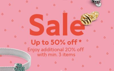 Up to 50% off Pandora Selected Items & Get Additional 20% Min. 3 Items