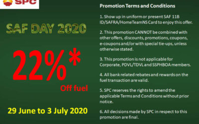 SPC SAF Day Promotion – 22% Off Fuel When You Fulfil Some Conditions