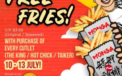 Monga is Giving Out Free Fries with Purchase of Every Chicken Outlet!